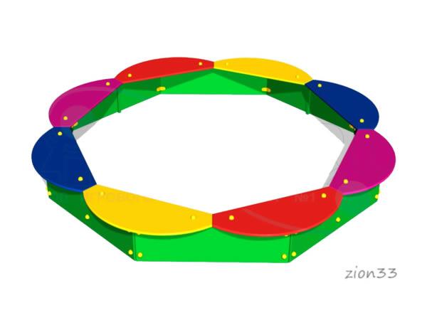 2790)Песочница «Восьмиугольная»