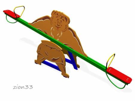 23)Качалка-балансир «Мишка»