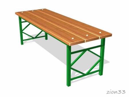 226)Скамейка парковая М4
