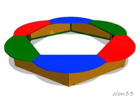 52)Детская песочница «Ромашка»