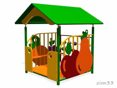 87)Детский игровой домик «Магазин»