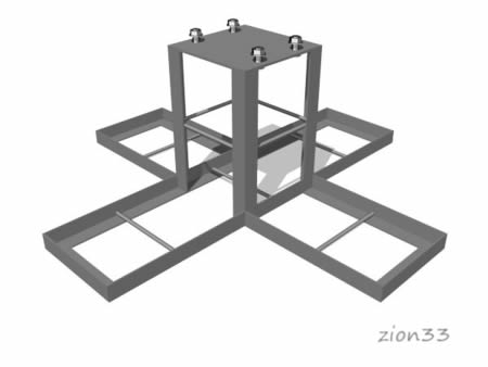 371)Закладная деталь для каруселей