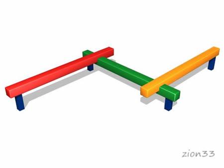 162)Детский гимнастический бум «Змейка»