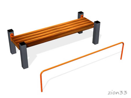2862)Скамья для пресса с упором ВБ-200Б