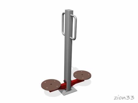 3670)Уличный тренажер двойной «Твистер»