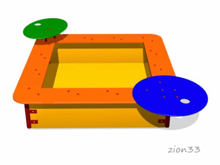 59)Детская песочница «Орбита»