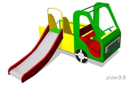 92)Игровой макет «Машинка»