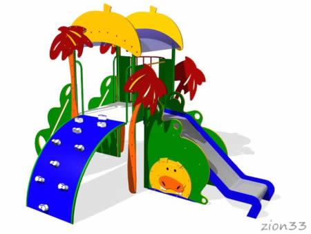 131)Детский игровой комплекс «Африка»