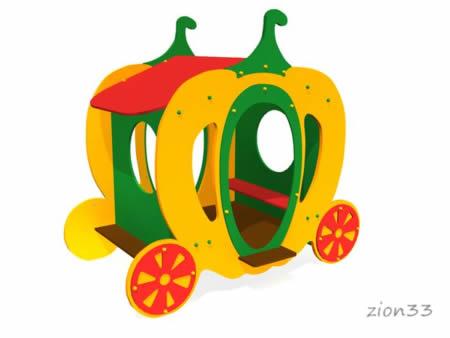 3569)Детский игровой домик «Карета»