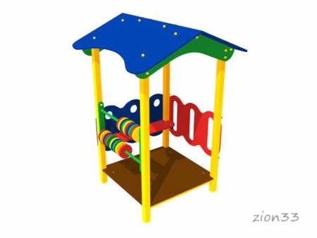 3602)Детский игровой домик «Беседка»