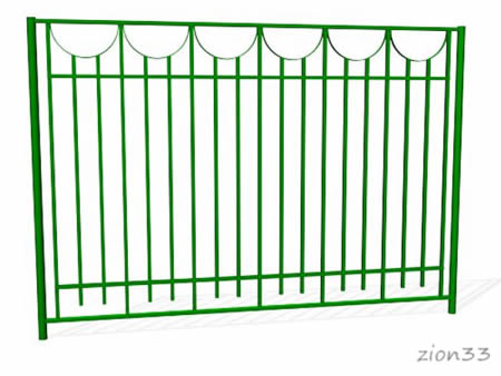 378)Забор металлический ОЗ-29