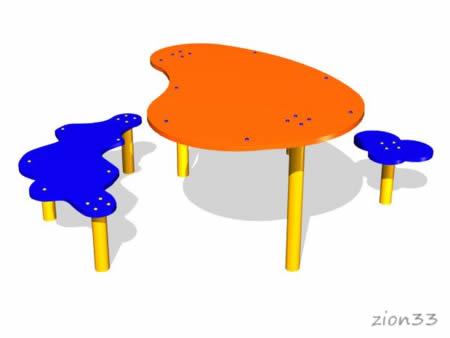 255)Детский столик «Тучки»