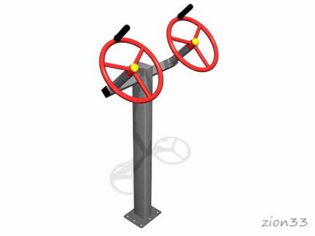 3682)Тренажер уличный «Рули»