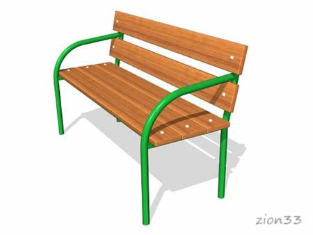 228)Скамейка парковая ДП1