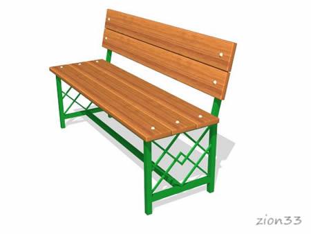 230)Скамейка парковая ДП3