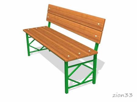 231)Скамейка парковая ДП4