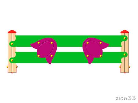 3695)Ограждение детской площадки «Колокольчик»