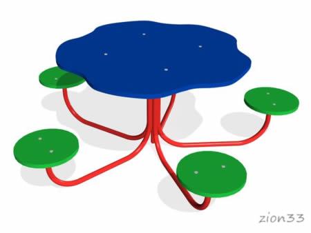 3022)Детский столик «Семицветик»