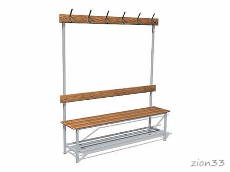 268)Скамейка для раздевалок СВ4