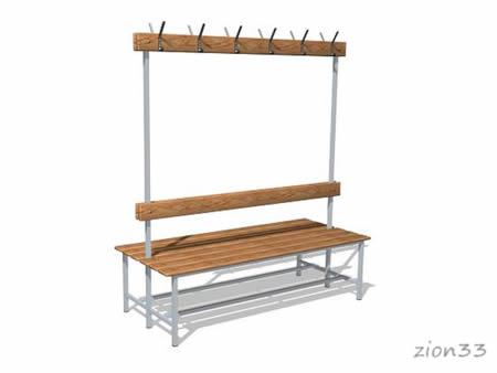 270)Скамейка для раздевалок СВ6