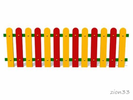 2321)Ограждение детской площадки «Спектр»