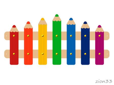 3691)Ограждение детской площадки «Карандаши»