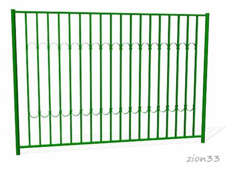374)Забор металлический ОЗ-3