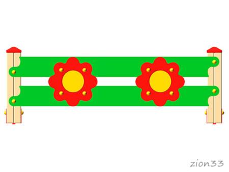 3693)Ограждение детской площадки «Цветок»