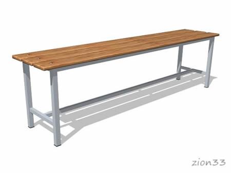 265)Скамейка для раздевалок СВ1