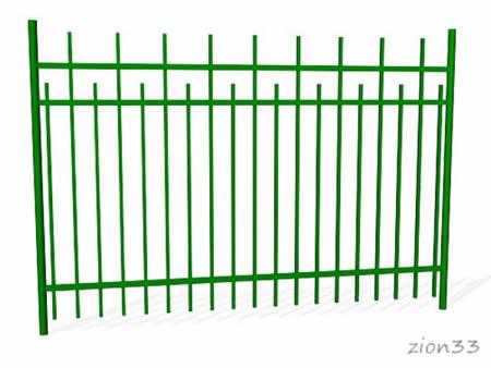 382)Забор металлический ОЗ-66