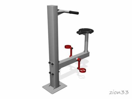 3679)Уличный тренажер «Велосипед»