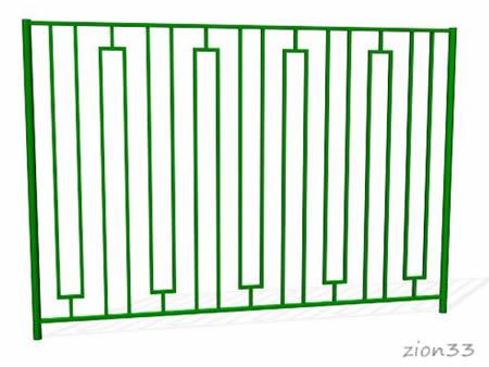 372)Забор металлический ОЗ-7