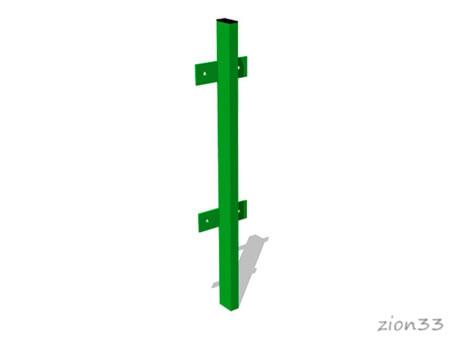 3698)Столб 40х20х980, с болтовым креплением секции