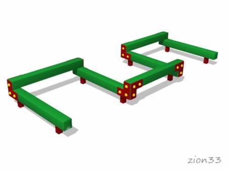 3678)Детский гимнастический бум «Змейка 7»