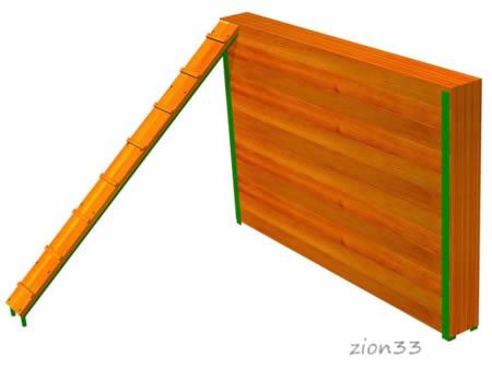 218)«Забор с наклонной доской»