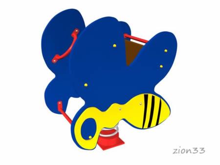 3024)Качалка на пружине «Пчелка»