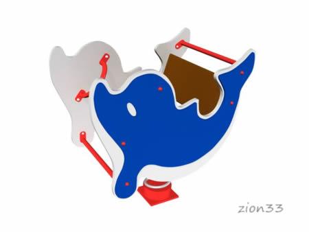 3023)Качалка на пружине «Дельфин»