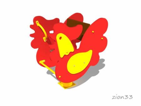 2720)Качалка на пружине «Петушок»
