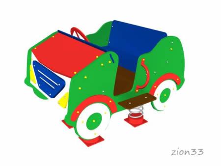 2925)Качалка на 4 пружинах «Кабриолет»