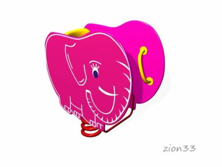 28)Качалка на пружине «Слоник»