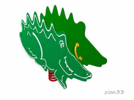 27)Качалка на пружине «Крокодил»