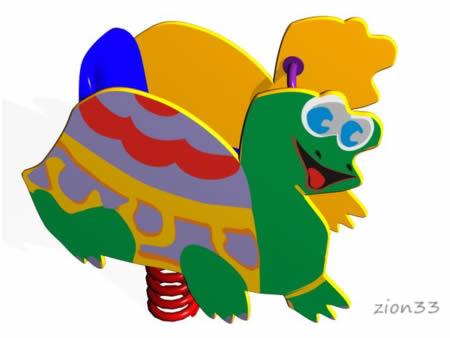 Качалка на пружине «Черепаха» превью