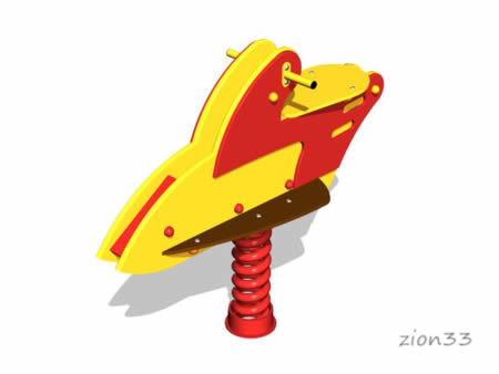 3657)Качалка на пружине «Скутер»