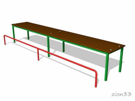 174)Скамья гимнастическая с упором для ног СЭ052