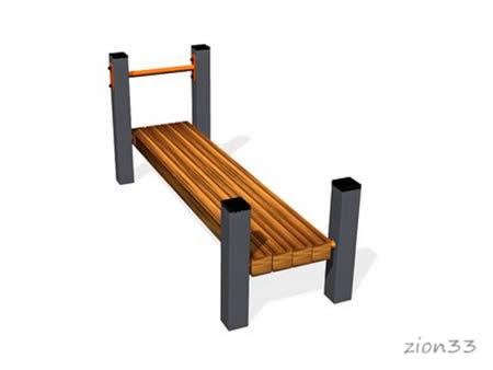 2861)Скамья для пресса горизонтальная ВБ-200Б