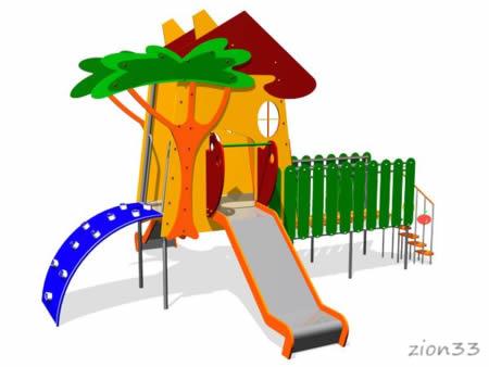 132)Детский игровой комплекс «Домик из Простоквашино»