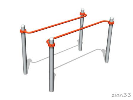 3740)Брусья параллельные для колясочников