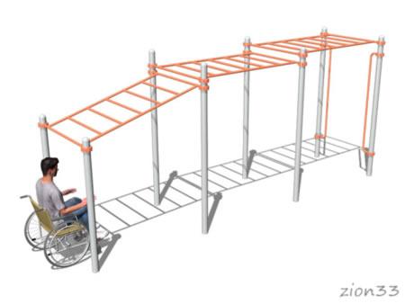 3742)Рукоход разноуровневый адаптированный для колясочников