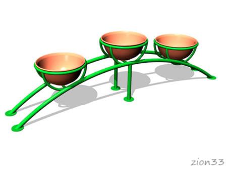 3745)Цветочница парковая ЦВ-6