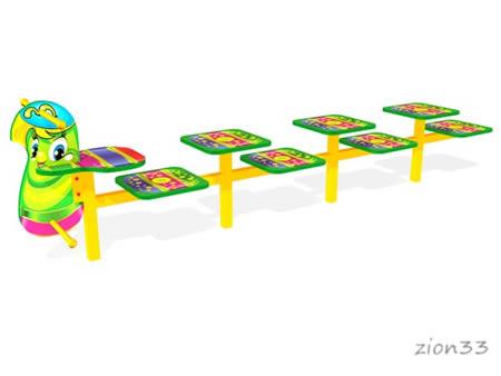 Скамейка детская разновысокая «Гусеница»